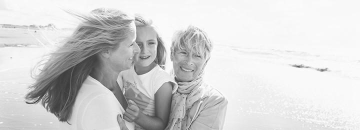 Fotoshoot 3 generaties vrouwen