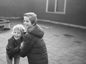Kinderfotoshoot Schoolplein